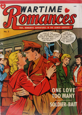 Wartime Romances #3. Cover art by Matt Baker. Click for values