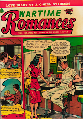 Wartime Romances #7: rare comic, Matt Baker cover. Click for values