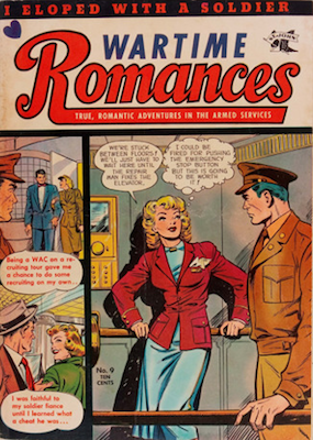 Wartime Romances #9: Matt Baker comic book cover art. Click for values