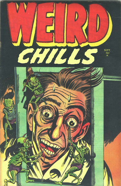Weird Chills #2 (1954): Classic Eye Injury cover! Click for value