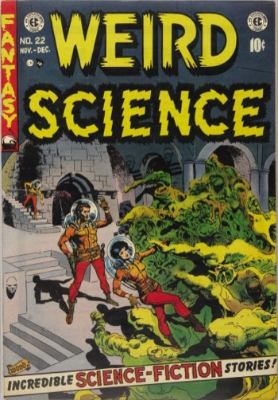 Weird Science #22: Last Issue before the merger with Weird Fantasy. Click for values
