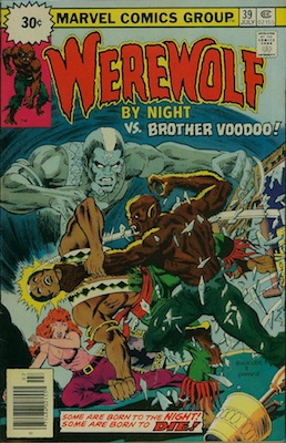Werewolf by Night #39 30 Cent Variant July, 1976. Price in Starburst