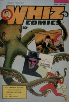Whiz Comics #155 (June, 1953): The End of Fawcett and a Hiatus for Captain Marvel. Click for values