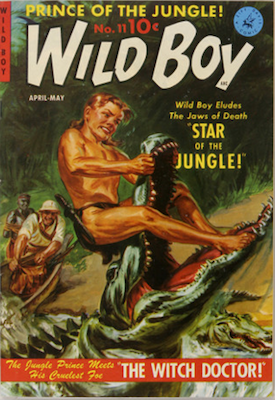 Wild Boy of the Congo #11: painted cover by Matt Baker. Click for values