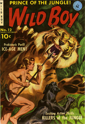 Wild Boy of the Congo #12: Painted cover by Matt Baker. Click for values