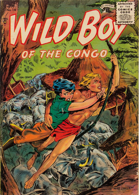 Wild Boy of the Congo #14: Baker cover art. Click for values