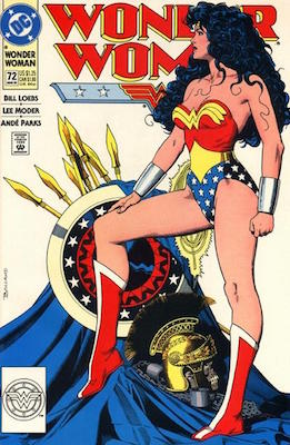 Wonder Woman v2 #72 (1993) Classic Sexy Cover by Brian Bolland. Click for values of this valuable modern comic book