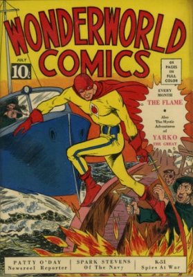 Wonderworld Comics #3: Origin and First Appearance, The Flame. Click to find out current market values