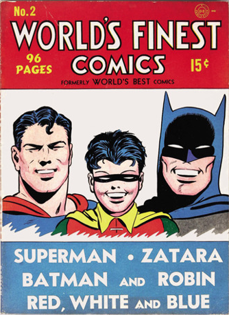 World's Finest Comics #2. Click for values.