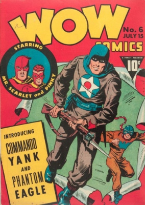 Wow Comics #6: Origin and First Appearance, Commando Yank. Click for values