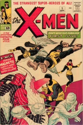 First Appearance, the X-Men, The X-Men #1, Marvel Comics, 1963. Click for value