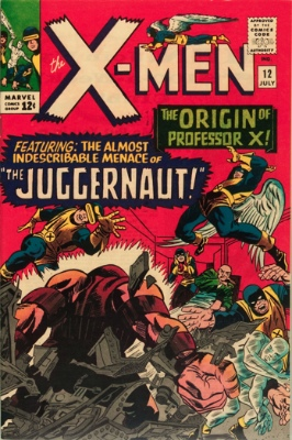 Juggernaut (First Appearance: X-Men #12, July, 1965). Click for value
