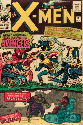 X-Men #9: First appearance of Lucifer; first meeting of X-Men and Avengers. Click for values