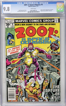 2001 #8 is a pretty common book in high grade. We recommend a CGC 9.8 with white pages. Click to buy a copy