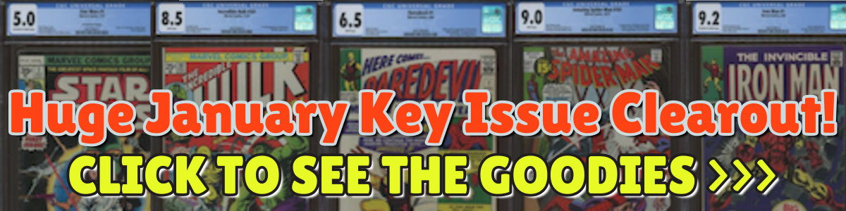 Click to See Our HUGE eBay Key Issue Blowout Sale!