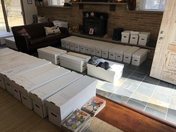 56-box comic book collection purchased in New Jersey, March 2020