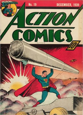 Action Comics #19: Superman WWII cover. Click for values