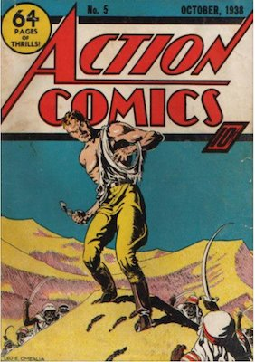 Action Comics #5: 5th Superman appearance. Click for values