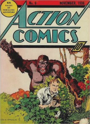 Action Comics #6: 1st Appearance of Jimmy Olsen. Click for values