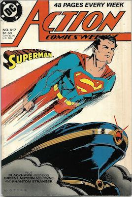 Action Comics #617. Click for values.