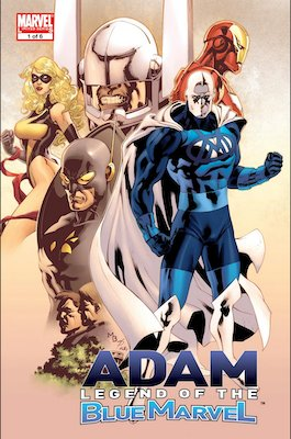 Adam: Legend of the Blue Marvel: Blue marvel (Adam Brashear) 1st Appearance. Click for values