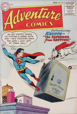 Adventure #210: First Appearance of Krypto the Super-Dog. Click for value