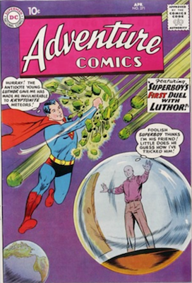 Adventure #271: Origin of Lex Luthor Retold. Click for values