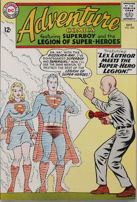 Adventure Comics #325: Legion vs Lex Luthor. Click for values