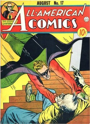 All-American Comics #17: 2nd appearance of Golden Age Green Lantern. Click for values
