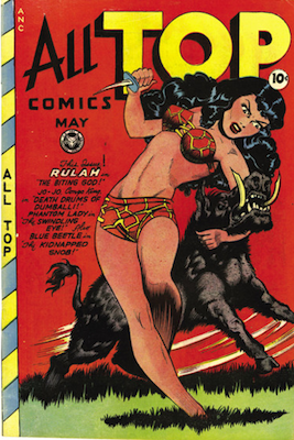 All-Top Comics #11, classic Matt Baker cover. Click for values