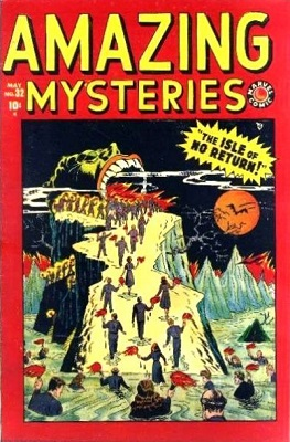 Amazing Mysteries #32 (1949): 1st Ever Marvel / Atlas Horror comic book. Click for value
