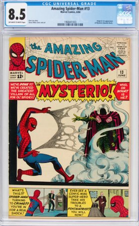 Hot Comics #19: Amazing Spider-Man 13, 1st Mysterio. Click to buy a copy