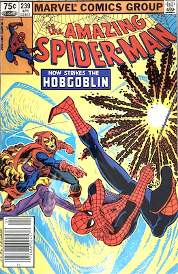 Amazing Spider-Man #239 (1983): First Spidey vs Hobgoblin Battle. Canadian price variant. Click for value