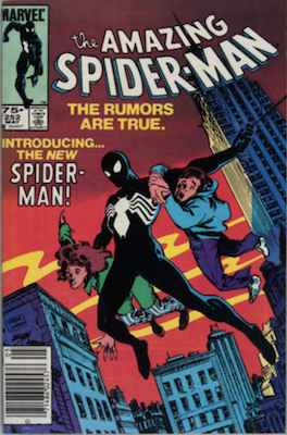 Canadian price variant of Amazing Spider-Man 252 with UPC bar code at bottom left