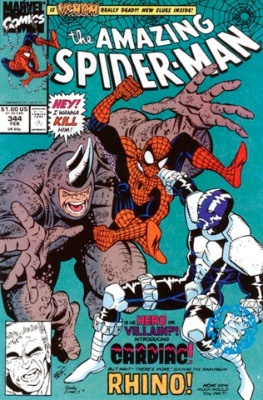 Amazing Spider-man 344 is the first appearance of Cletus Cassidy, later Carnage