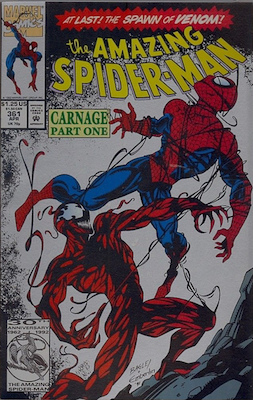 Amazing Spider-Man #361: 2nd Printing (Silver cover). Click for values