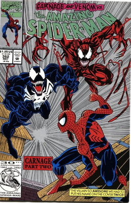 Venom comics: There is a second printing of Amazing Spider-Man #362 which has a silver cover background