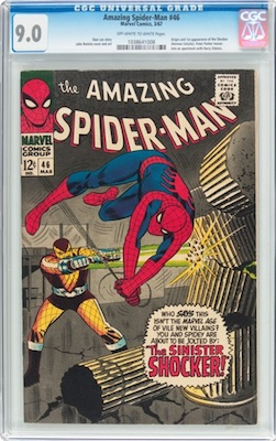 Hot Comics #8: Amazing Spider-Man #46, 1st Shocker. If you cannot afford nicer, then a crisp CGC 9.0 will be a good bet. Click to buy a copy