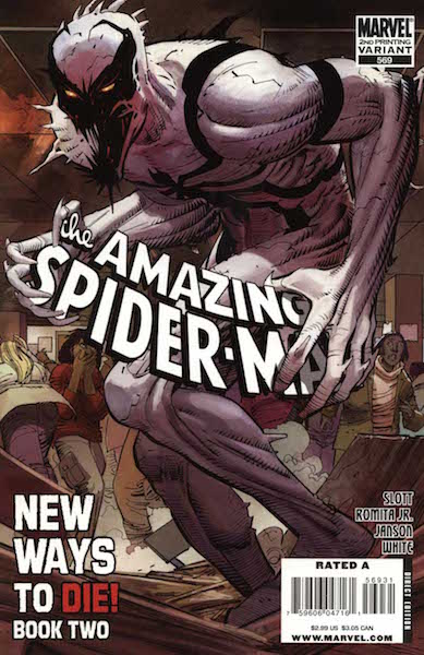 #69: Amazing Spider-man 569 Second Printing, Romita Jr./Janson (2008). Click for values