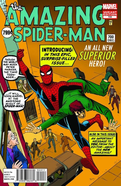#24: Amazing Spider-man 700 Ditko Variant (2013). Click for values