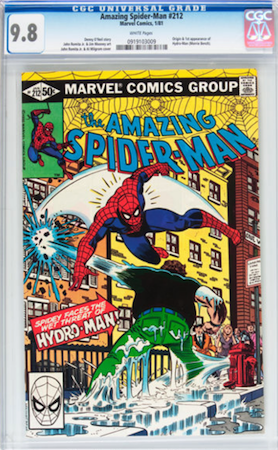 Look for a copy of Amazing Spider-Man 212 in CGC 9.8 with white pages. This book will be lifted by the rising prices of 9.0 through 9.6. Click to buy
