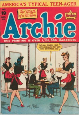 Archie Comics #19. Click for current values.
