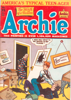 Archie Comics #21. Click for current values.