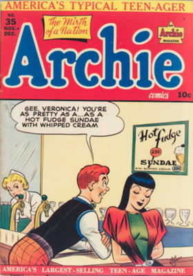 Archie Comics #35. Click for current values.