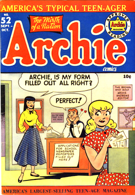 Archie Comics #52. Click for current values.