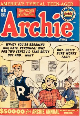 Archie Comics #56. Click for current values.