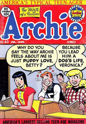 Archie Comics #63. Click for current values.