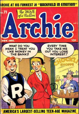 Archie Comics #71. Click for current values.