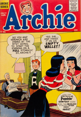 Archie Comics #81. Click for current values.