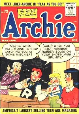 Archie Comics #73. Click for current values.